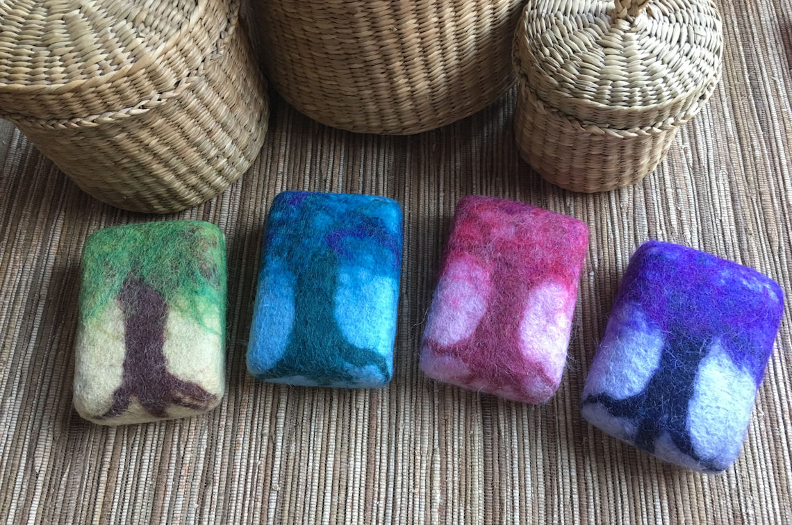 'Enchanted Forest' – Felted Soaps