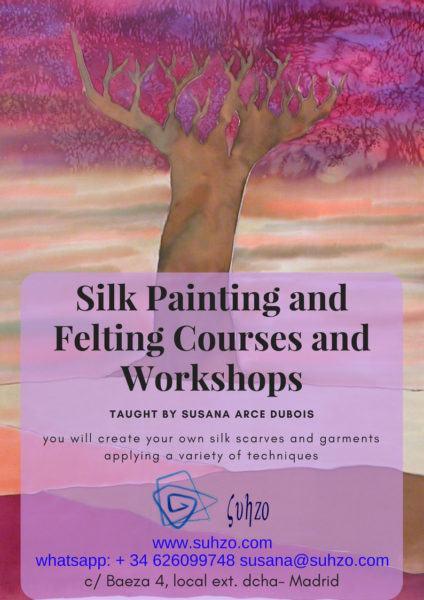 Hand-Painting on Silk and Nuno Felting Classes