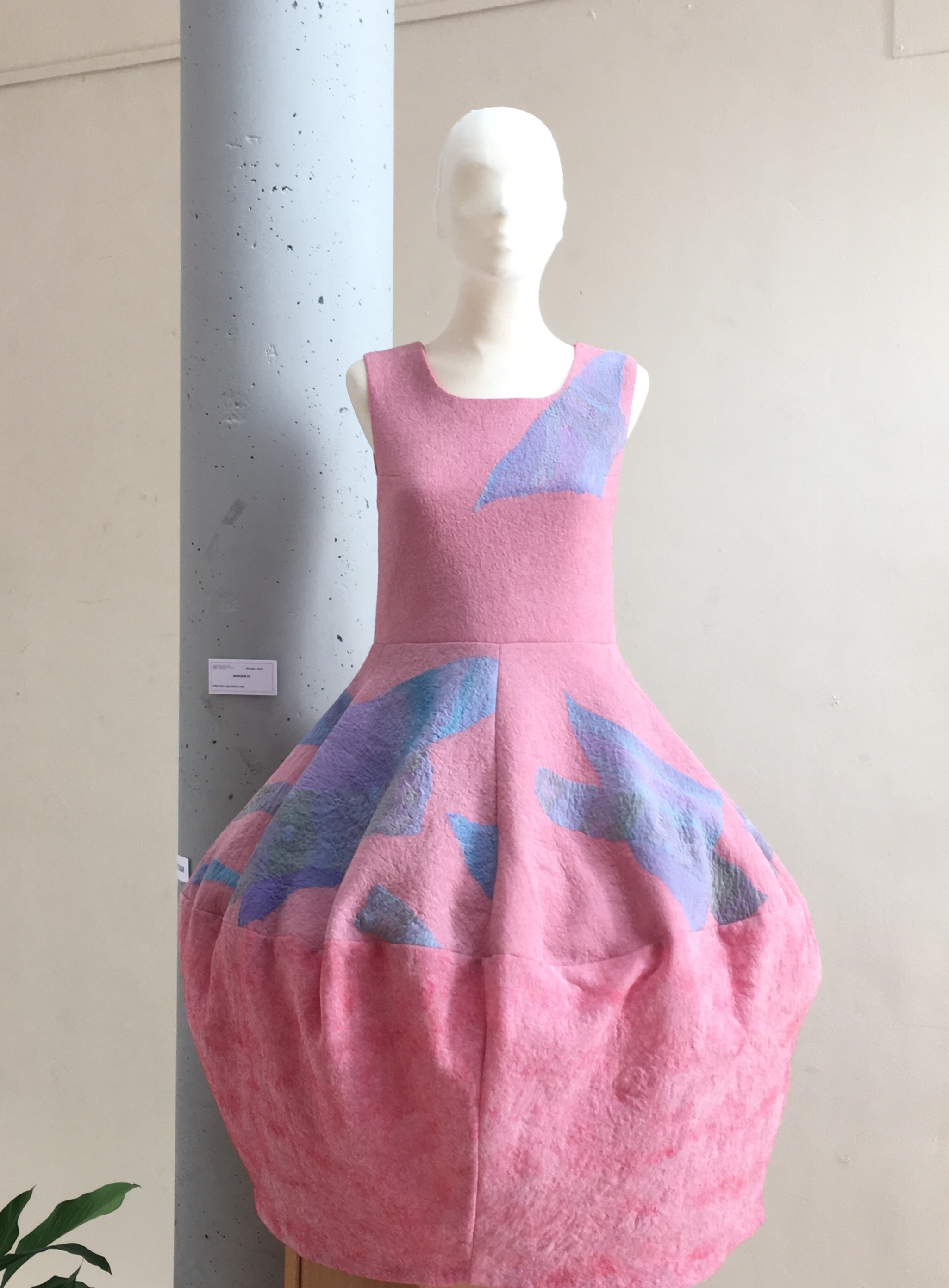 Nuno Felt Dress in Textileando Madrid Exhibition