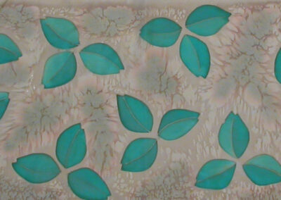 'Leaves' – Hand-Painted Silk Scarf