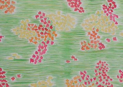 'In the Garden 2' – Hand-Painted-Silk Scarf